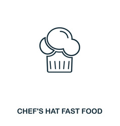 simple outline chef hat icon pixel perfect linear vector image