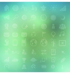 Social color Media Circles Icon Network vector image