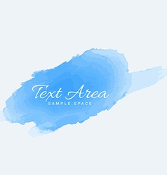 Soft blue watercolor paint vector