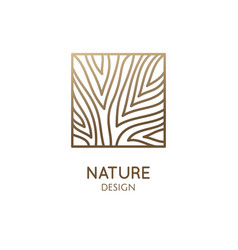 square abstract tree emblem vector image