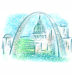 st louis vector image