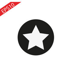 Star in circle icon flat in vector