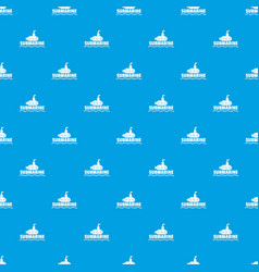 submarine pattern seamless blue vector image