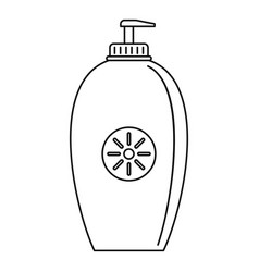 sun lotion dispenser icon outline style vector image
