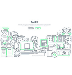 taxes - modern line design style vector image