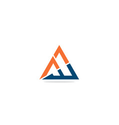 triangle line colored logo vector image