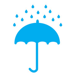 Umbrella and rain drops on white background vector