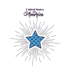 united stastes of america design vector image
