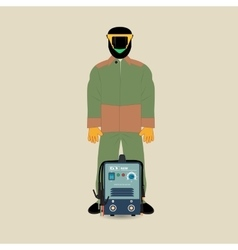 Welder and Welding Machine vector image