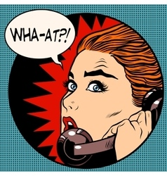 what a woman speaks on the phone vector image