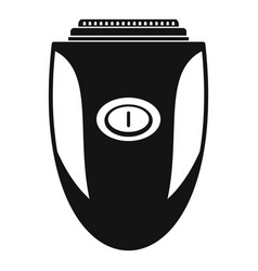 Woman shaver icon simple style vector