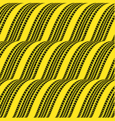 Yellow cascade tire track vector