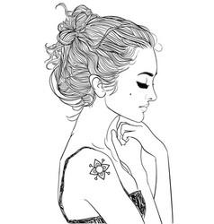 Young beautiful woman vector