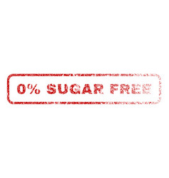 0 percent sugar free rubber stamp vector image