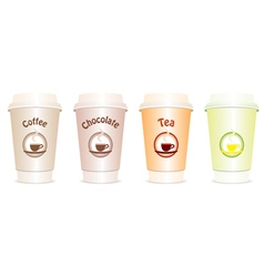 4 cups to go vector image