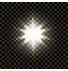 bright star on a dark background vector image vector image