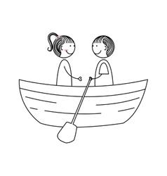 cute couple love icon vector image