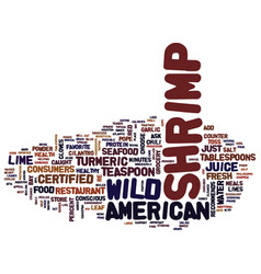 For healthy meals choose wild american shrimp vector