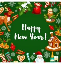 New year holiday poster design vector
