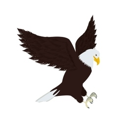 Silhouette eagle in hunting position vector