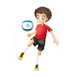 A football player from Israel vector image vector image
