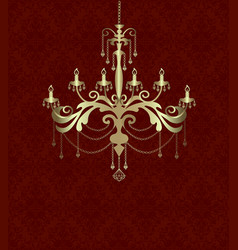 black sihouette of chandelier vector image
