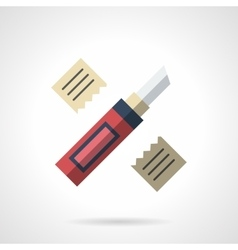Construction knife flat color icon vector