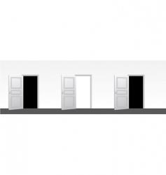 three doors open vector image
