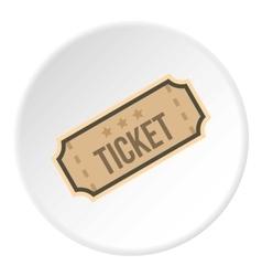 Cinema ticket icon flat style vector image