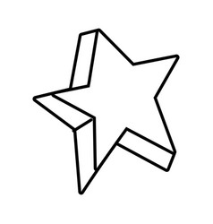 line cute bright star art design vector image vector image