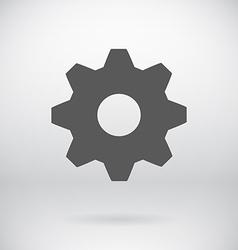 Flat settings cog sign repair key symbol vector