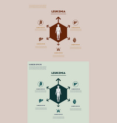 Medical infografics health problems health vector