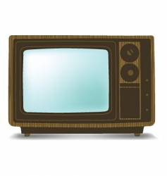 old wooden tv vector image vector image
