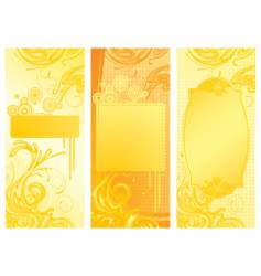 yellow backgrounds vector image vector image