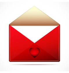 A love letter with a hearts image vector image