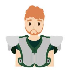 american football player man vector image