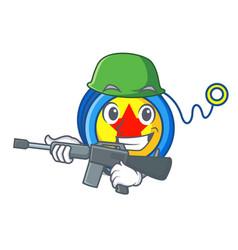 army yoyo character cartoon style vector image
