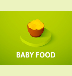 Baby food isometric icon isolated on color vector
