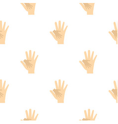 Baby hand in mother hand pattern seamless vector