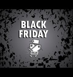black friday concept sale vector image