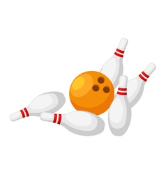 Bowling isolated on white background vector