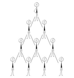 Cartoon business organization team hierarchy vector