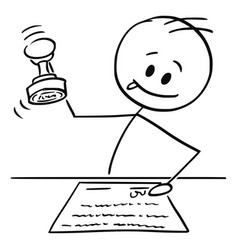 Cartoon man notary or white collar worker vector