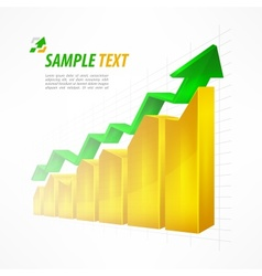 Chart with arrow text on white vector image