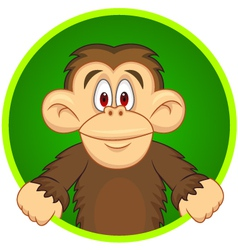 Chimpanzee carton vector image