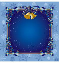 christmas background with a bell vector image