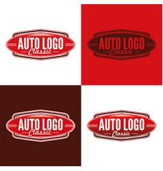 Classic auto logo vector
