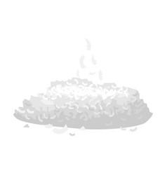 Coconut flakes iconcartoon icon vector