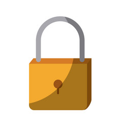 colorful silhouette of padlock icon without vector image