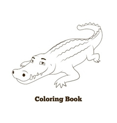 Coloring book crocodile african savannah animal vector